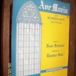SHEET MUSIC ave maria sir walter scotts lady of th